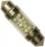 2ks žárovka LED 24V 5W SV 10x36mm 6xLED čirá