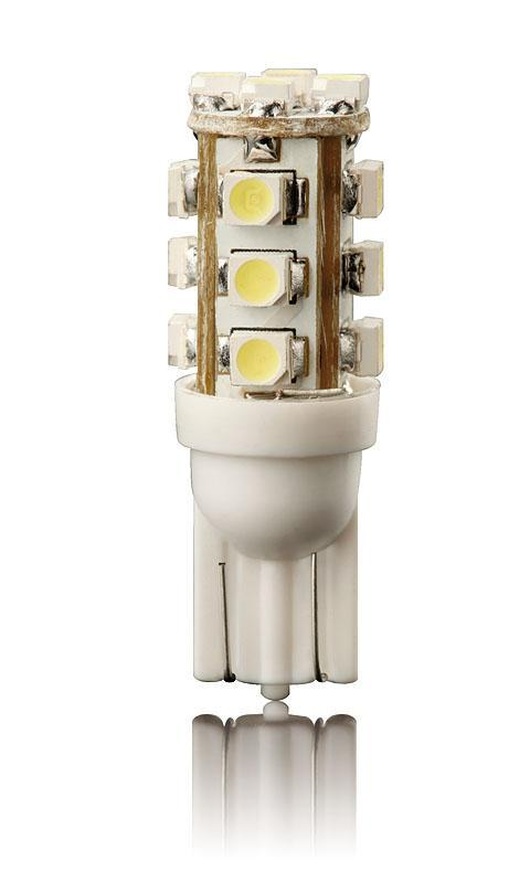 Žárovka LED16 T10 12V - WHITE 2ks