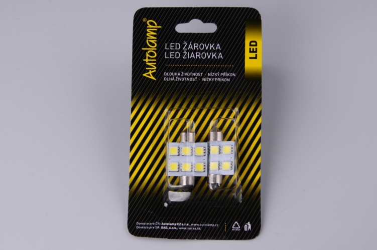 2ks žárovka LED 24V 15W SV 14x36mm COB