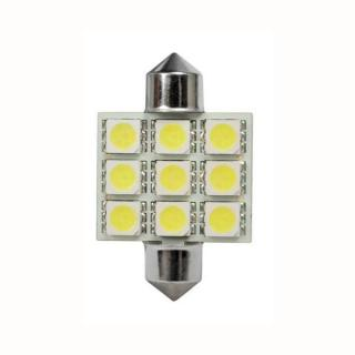 Žárovka LED9 C5W FESTOON 5050SMD T11x36mm 2ks