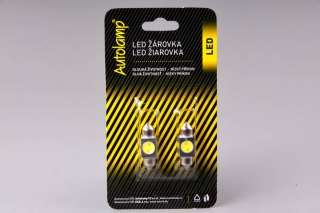 2ks žárovka LED 12V 10W SV 18x31mm čirá